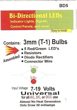 Bright Bi-Directional Red/Green LED
