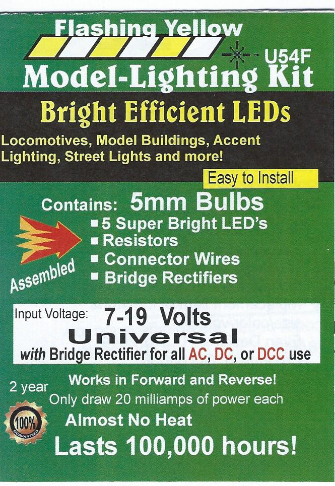 Bright Flashing Yellow LED