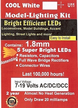 Package of U11 Bright Cool White