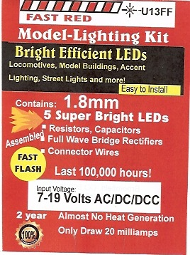 Small Bright Fast flashing Red LED