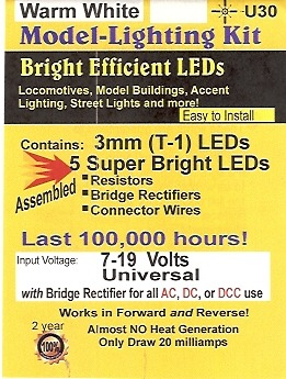 Package cover of U30 Warm White LED