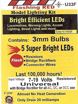 Bright Flashing Red LED