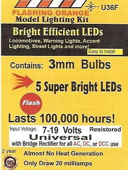 Bright Flashing Orange LED
