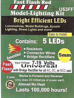 Bright Fast Flashing Red LED