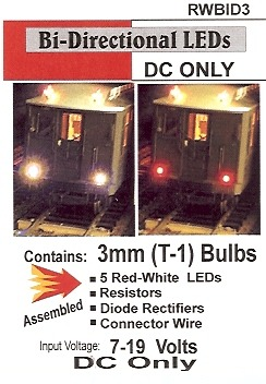 Bi-Directional Red/White LED