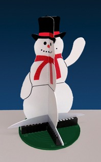 Snowman animated model Lighted Display