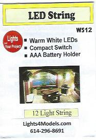 WS12 Warm White LED String of Lights by Evan Designs-0