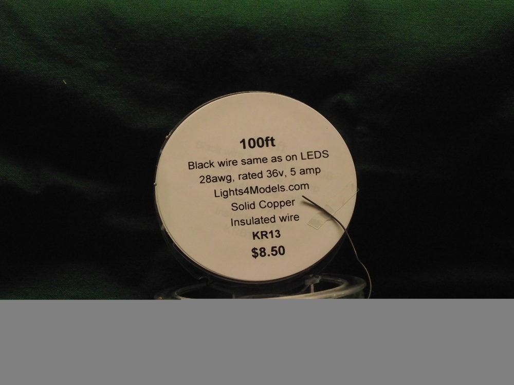 KY100B Black 28awg solid copper wire 100ft old nbr KR13 by Evan Designs-0