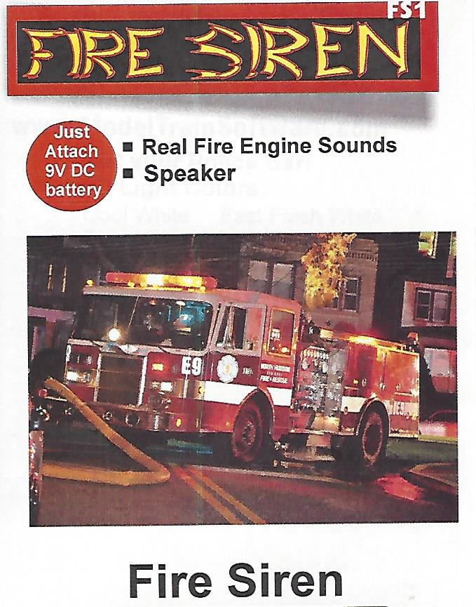 Ffire truck siren for models