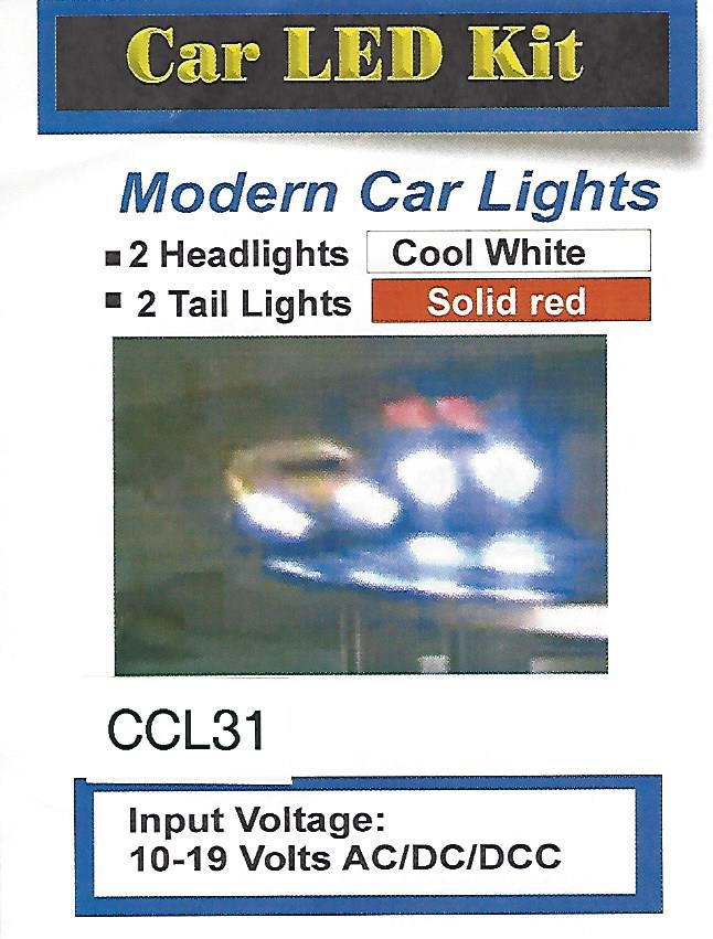 modern die cast head lights and tail lights