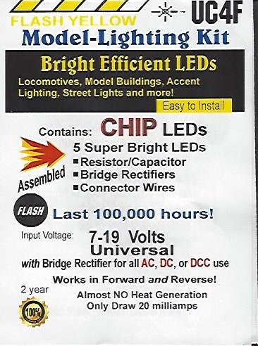 UC4F Flashing Yellow SMD Chip, Pkg=5 by Evan Designs-0