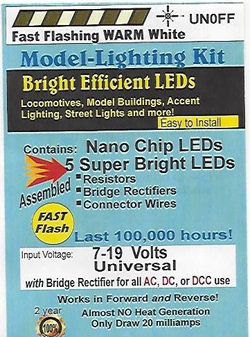 UN0FF Flashing Nano Chip, Color=Warm White Pkg=5 by Evan Designs-0