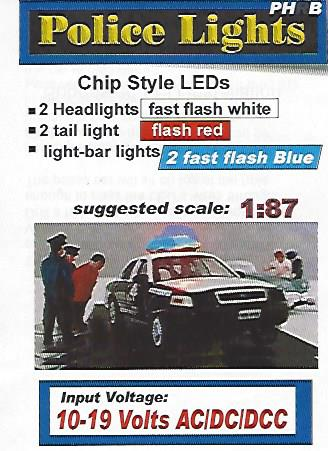 PHB Emergency Vehicle Blue Flashing Lights SMD Chips by Evan Designs-0