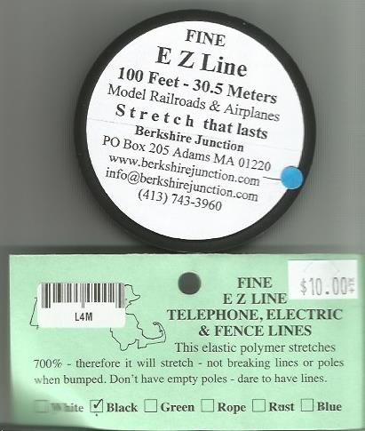EZ Line Simulating Wires Charcoal/Black - Fine-0
