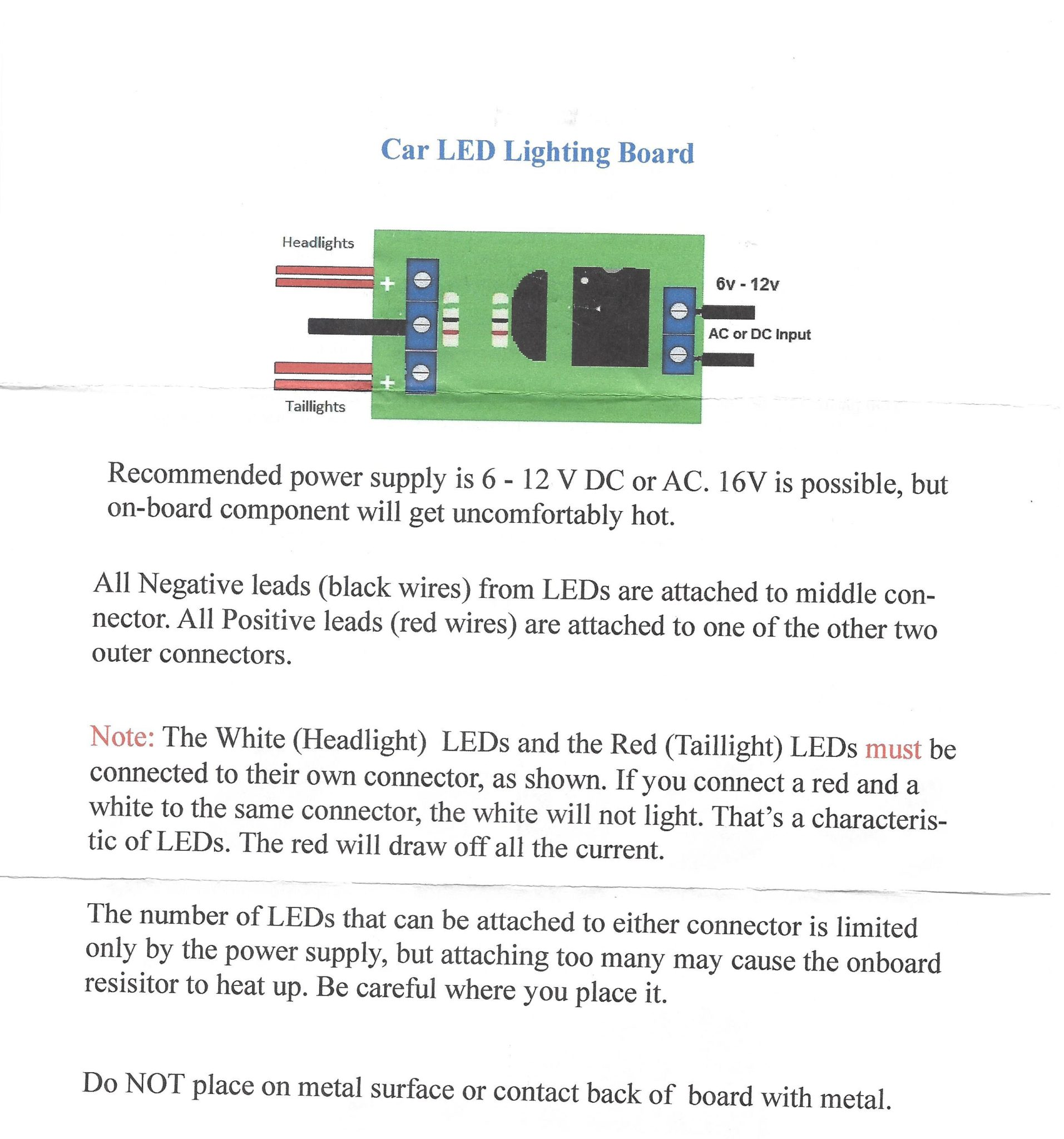 Wiring Car Lighting Board Largest Diagram Database Vehicle Led Wire Ip155 Ho Scale Warm White Head Lights And Red Tail By Rh Lights4models Com Circuit